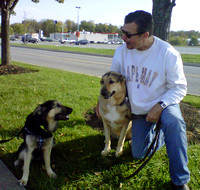 Cinco, with his new sister, Randi and his new Dad, Mark.